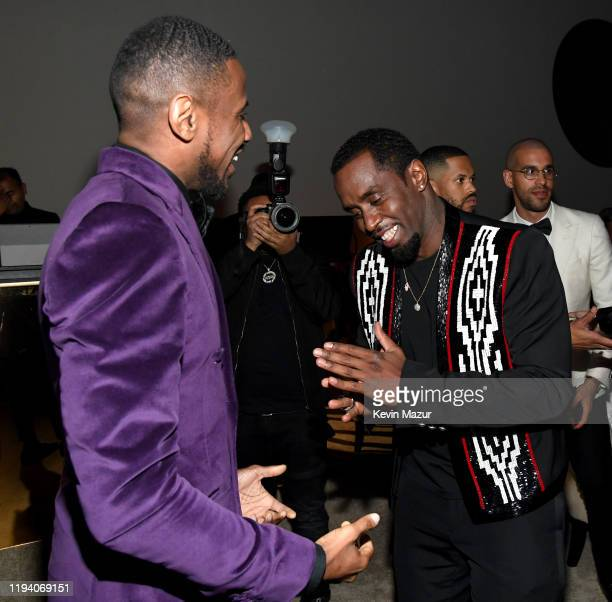 Fabolous and Sean Combs attend Sean Combs 50th Birthday Bash presented by Ciroc Vodka on December 14 2019 in Los Angeles California
