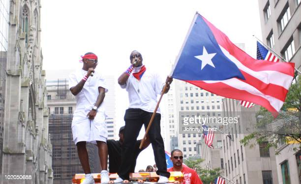 Fabolous and Sean Diddy Combs attend the 53rd annual Puerto Rican Day Parade on June 13 2010 in New York City