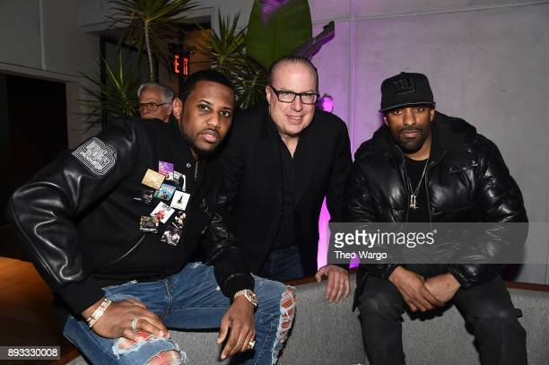 Fabolous Def Jam CEO Steve Bartels and DJ Clue attend as Def Jam Recordings Celebrates the Holidays with Patron Tequila at Spring Place on December...