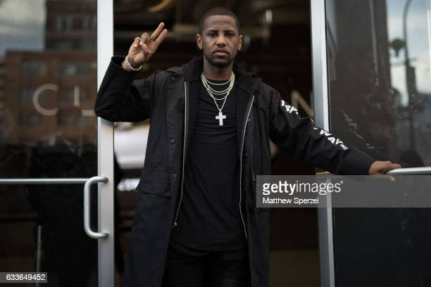 Fabolous is seen attending Stampd/Willy Chavarria/Orley while wearing an all black outfit on February 2 2017 in New York City