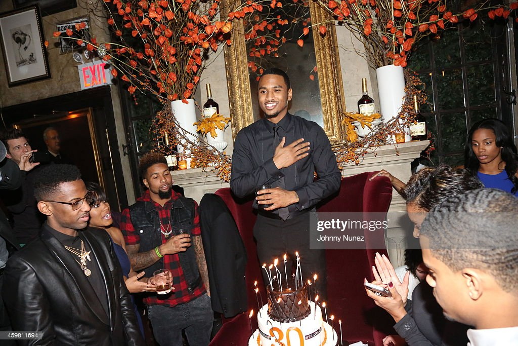 Fabolous, Keke Palmer, Odell Beckham Jr. and Trey Songz attend Trey Songz 30th Birthday Celebration at The Lion on December 1, 2014 in New York City.