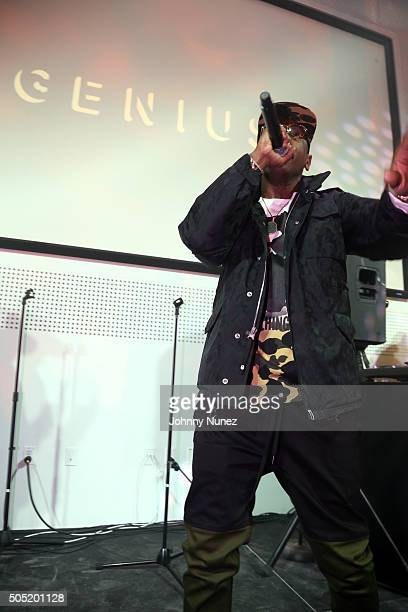 fb5971c8ed5 Fabolous performs at the Genius X Spotify Launch Party at Genius HQ on  January 15 in
