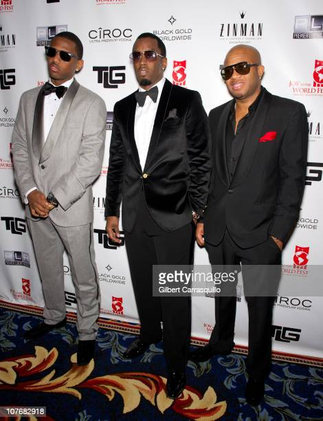 Fabolous Sean 'Diddy' Combs and Red Cafe attend the 2010 Joy to the World Fest Black Tie Gala at the Ritz Carlton Hotel on December 18 2010 in...