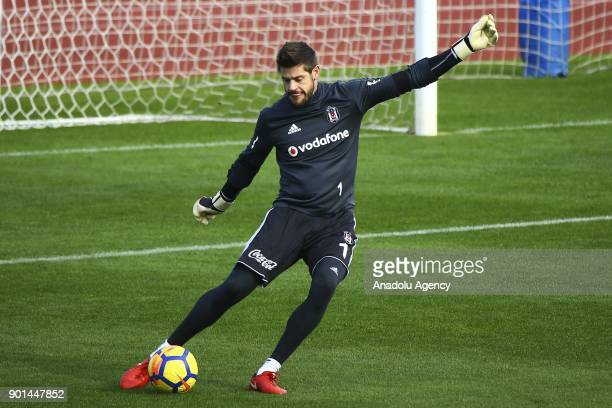 Fabri of Besiktas attends a training session ahead of the 2nd half of the Turkish Super Lig in Antalya Turkey on January 05 2018