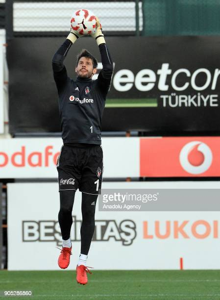 Fabri of Besiktas attends a training session ahead of Turkish Ziraat Cup match against Osmanlispor at BJK Nevzat Demir Facilities in Istanbul Turkey...