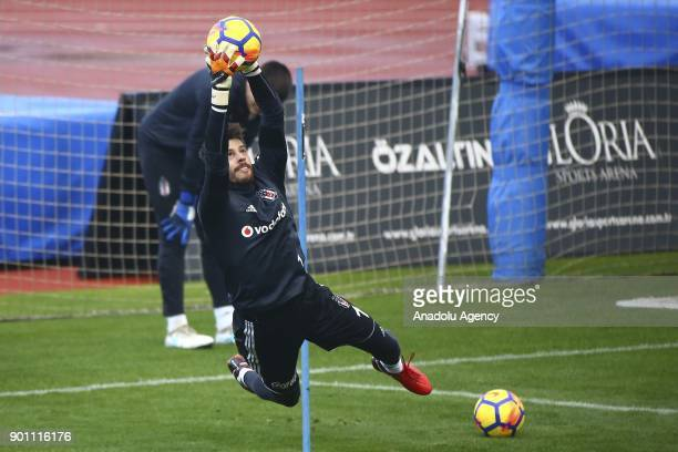 Fabri of Besiktas attends a training session within his team's midseason training camp in Antalya Turkey on January 4 2018