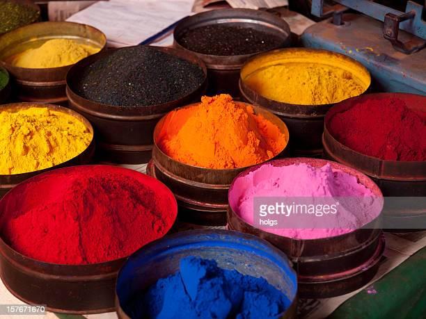 Fabric dyes in Cuzco, Peru