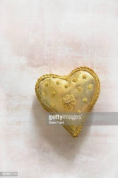 fabric heart  on flat surface