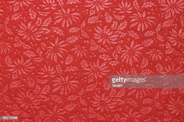 fabric patterns - poinsettia - christmas star stock photos and pictures
