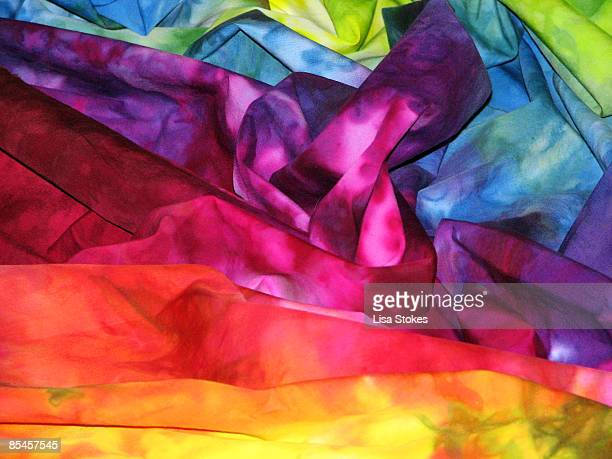 fabric rainbow - tintura - fotografias e filmes do acervo