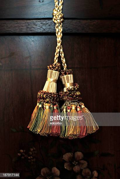 fabric tassels - tassel stock pictures, royalty-free photos & images