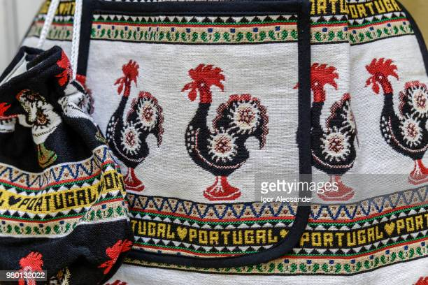Fabric with rooster from Barcelos