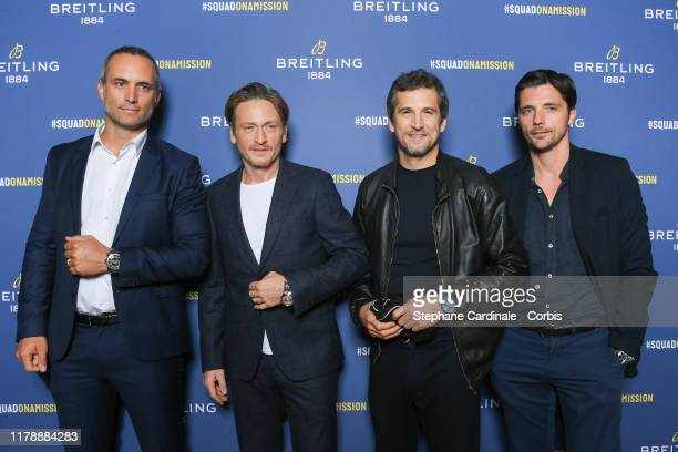 Fabrice Amadeo Benoit Magimel Guillaume Canet and Raphael Personnaz attend the Breitling 1884 flagship reopening party at 10 rue de la Paix on...