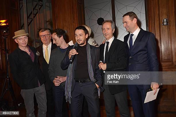 Fabrice Bousteau Philippe Savinel David Raffini Florian Pugnaire Colette Barbier Bernard Blistene and Alexandre Ricard attend 'Le Bal Jaune 2015'...