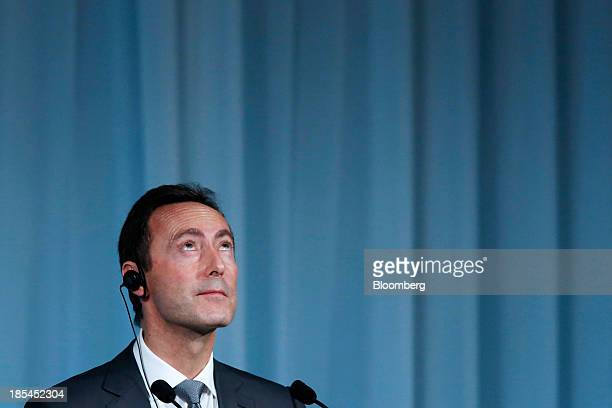 Fabrice Bregier president and chief executive officer of Airbus SAS attends the 15th Nikkei Global Management Forum in Tokyo Japan on Monday Oct 21...