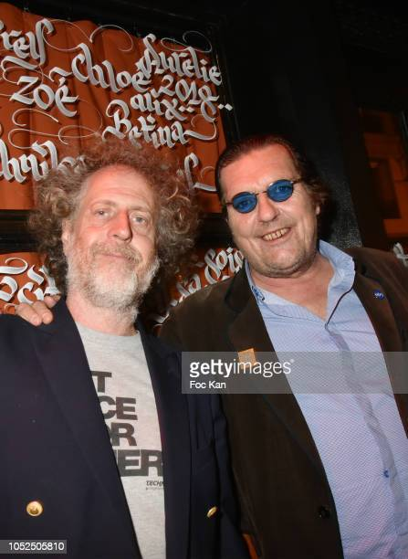 Fabrice de Rohan Chabot and Cyril Putman attend The Technikart Magazine Arty Party at le Montana Club on October 18 2018 in Paris France