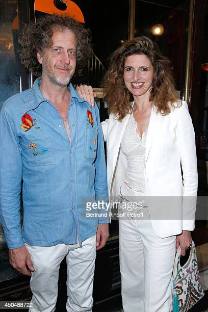 Fabrice de Rohan Chabot and Florine Asch attend the 'Eugenia Grandchamp Des Raux' Danse Exhibition at Galerie Pierre Passebon on June 10 2014 in...