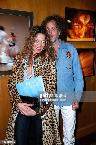 Fabrice de Rohan Chabot and Nathalie Pasqua attend the 'Eugenia Grandchamp Des Raux' Danse Exhibition at Galerie Pierre Passebon on June 10 2014 in...