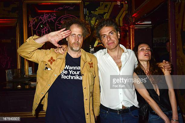 Fabrice de Rohan Chabot, Jean Pierre Marois and Juliette Longuet attend the 'Bains Douches Embellishing Party' At Les Bains Douches Club In Paris on...