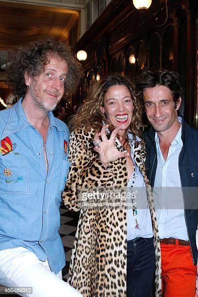 Fabrice de Rohan Chabot Nathalie Pasqua and star Dancer Benjamin Pech attend the 'Eugenia Grandchamp Des Raux' Danse Exhibition at Galerie Pierre...