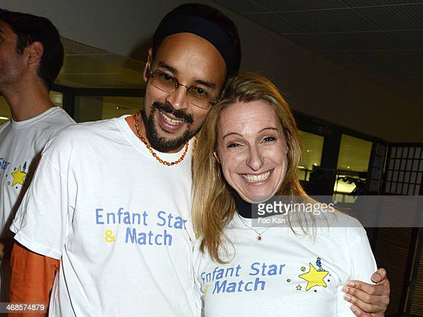 Fabrice di Falco and Anne Bernex attend the 'Sourire Gagnant' Charity Event to Benefit 'Enfant Star Et Match' At Sporting Tennis Club on February 10...