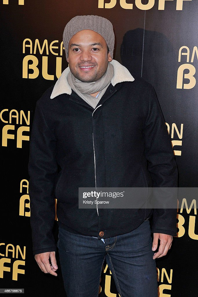 Fabrice Eboue attends the 'American Bluff' Paris Premiere at Cinema UGC Normandie on February 3, 2014 in Paris, France.