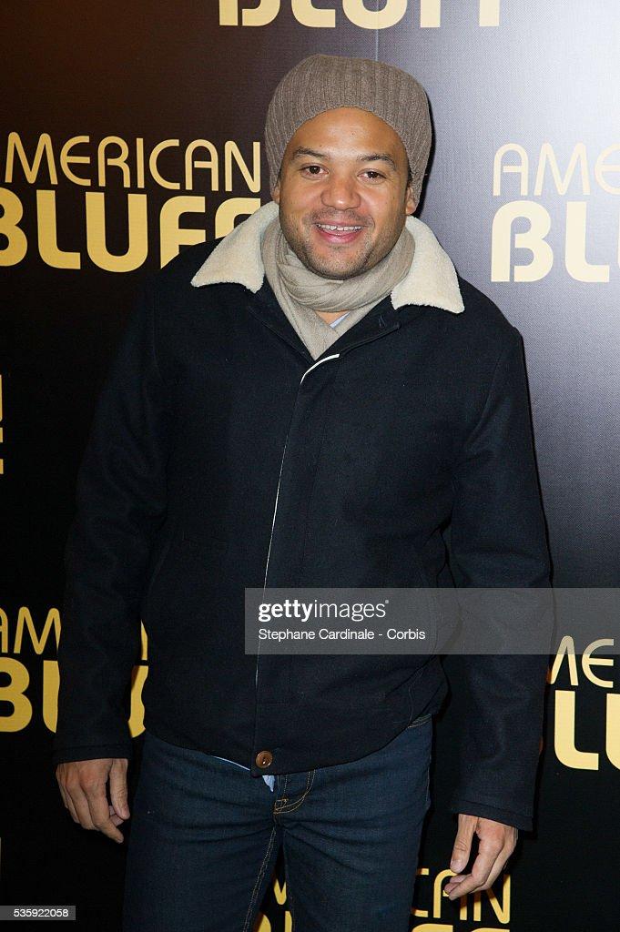 Fabrice Eboue attends the 'American Bluff' Paris Premiere at Cinema UGC Normandie, in Paris.