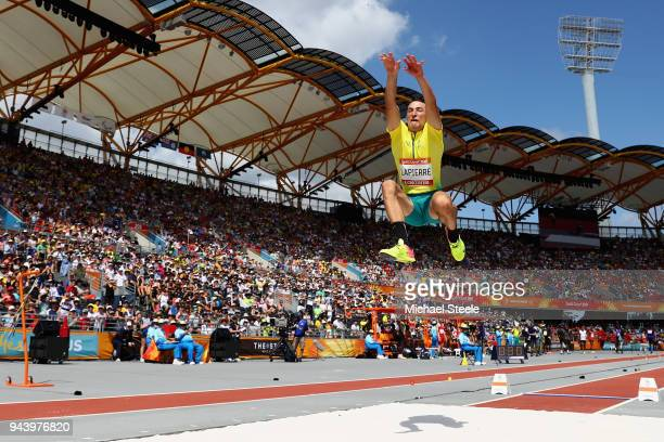Fabrice Lapierre of Australia competes in the Men's Long Jump qualification during the Athletics on day six of the Gold Coast 2018 Commonwealth Games...