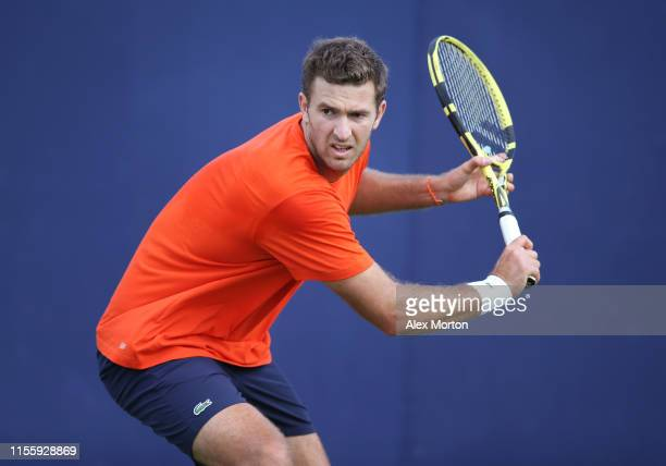 Fabrice Martin of France during a practice session prior to the FeverTree Championships at Queens Club on June 14 2019 in London United Kingdom