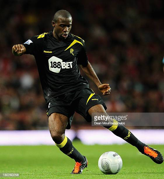 Fabrice Muamba of Bolton in action during the Carling Cup Fourth Round match between Arsenal and Bolton Wanderers at Emirates Stadium on October 25...