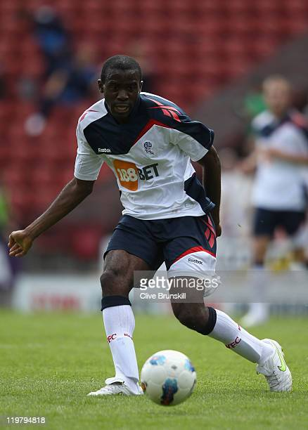 Fabrice Muamba of Bolton Wanderers in action during the pre season friendly match between Bradford City and Bolton Wanderers at Coral Windows Stadium...