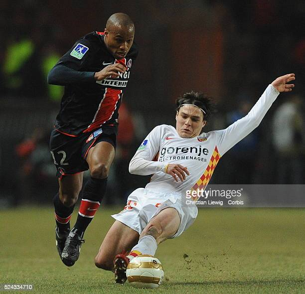 Fabrice Pancrate during the French League Cup match between Paris Saint Germain and RC Lens