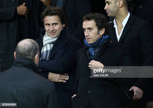 Fabrice Santoro and CEO of FNAC and Darty Alexandre Bompard attend the French Ligue 1 match between Paris Saint Germain and OGC Nice at Parc des...