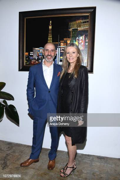 Fabrice Spies and Florence Klein attend the URBAN2020 Fabrice Spies Benefiting STOP Trafficking of People on December 13 2018 in Los Angeles...