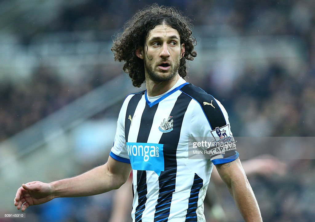 Fabricio Coloccini of Newcastle United in action during the Barclays Premier League match between Newcastle United FC and West Bromwich Albion FC at St James' Park on February 6, 2016 in Newcastle Upon Tyne, England.