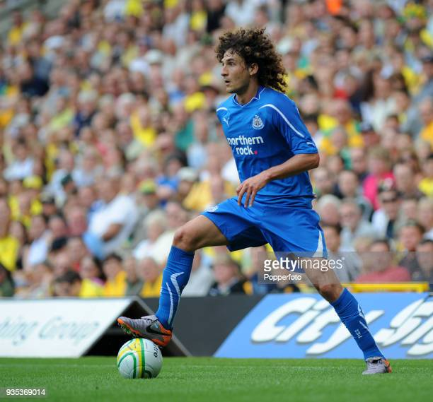 Fabricio Coloccini of Newcastle United in action during the Pre Season Friendly match between Norwich City and Newcastle United at Carrow Road in...