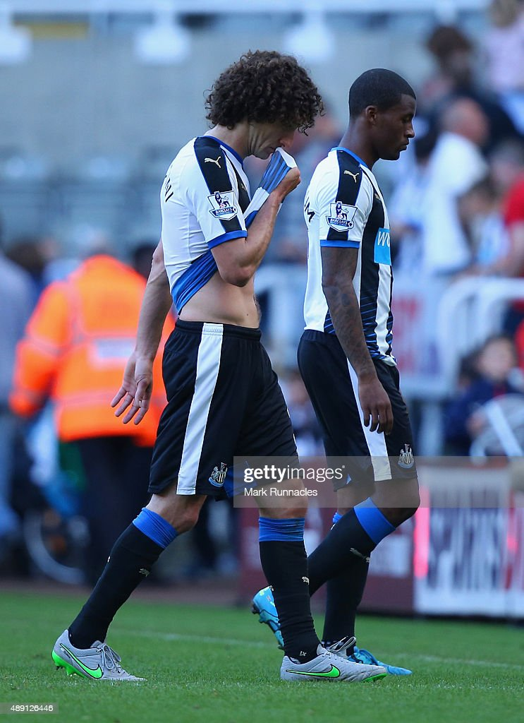 Fabricio Coloccini of Newcastle United leaves the pitch after his team's 1-2 defeat in the Barclays Premier League match between Newcastle United and Watford at St James' Park on September 19, 2015 in Newcastle upon Tyne, United Kingdom.
