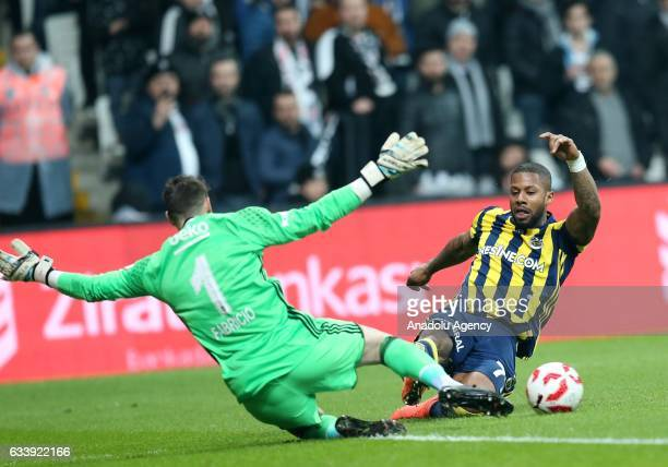 Fabricio of Besiktas in action against Lens of Fenerbahce during the Ziraat Turkish Cup soccer match between Besiktas and Fenerbahce at Vodafone...
