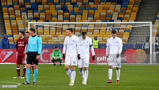Fabricio of Besiktas JK gets upset during the UEFA Champions League football match between FC Dynamo Kiev and Besiktas JK at the Olympiyski Stadium...