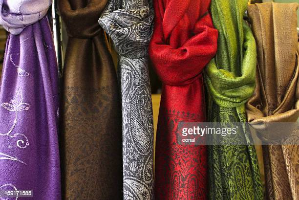 Fabrics in different colors