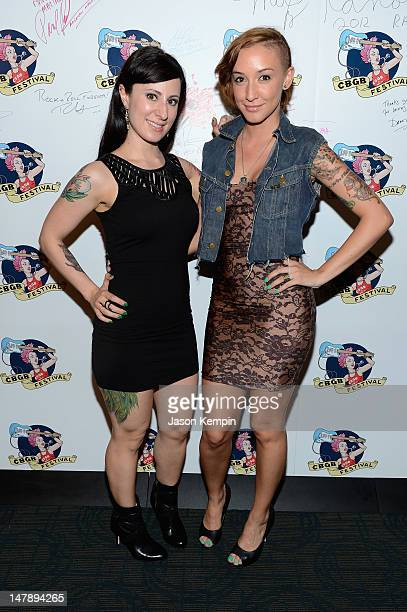 Fabrizia and Lux from The Suicide Girls attend 2012 CBGB Festival Film Premieres on July 5 2012 in New York City