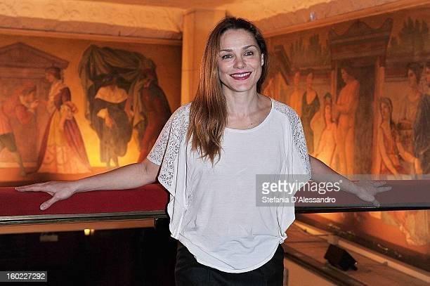 Fabrizia Sacchi attends 'Il Gioco dell'Amore e del Caso' Photocall held at Teatro Manzoni on January 28 2013 in Milan Italy