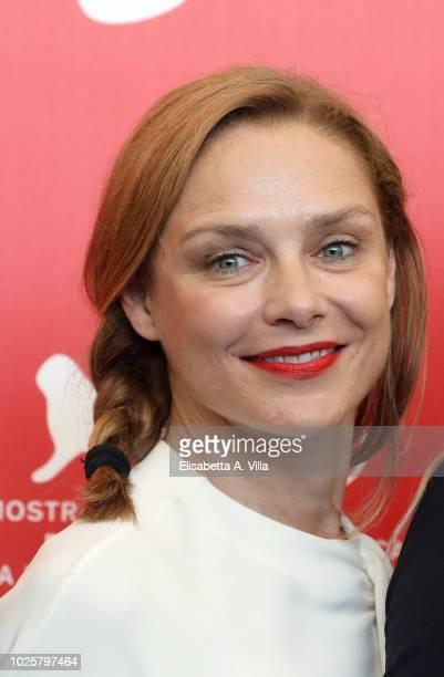 Fabrizia Sacchi attends 'Suspiria' photocall during the 75th Venice Film Festival at Sala Casino on September 1 2018 in Venice Italy