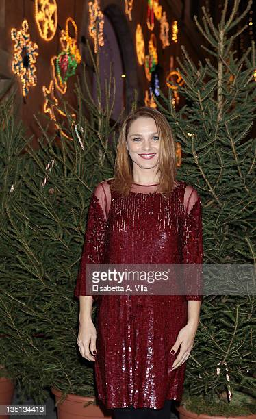 Fabrizia Sacchi attends the Christmas Lights Cocktail Party at the Stella McCartney boutique on December 6 2011 in Rome Italy