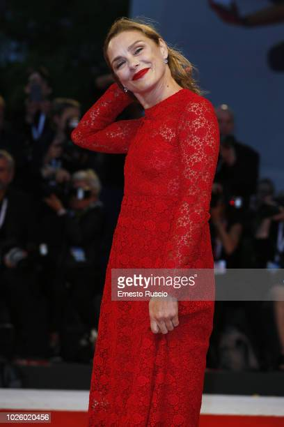 Fabrizia Sacchi walks the red carpet ahead of the 'Suspiria' screening during the 75th Venice Film Festival at Sala Grande on September 1 2018 in...