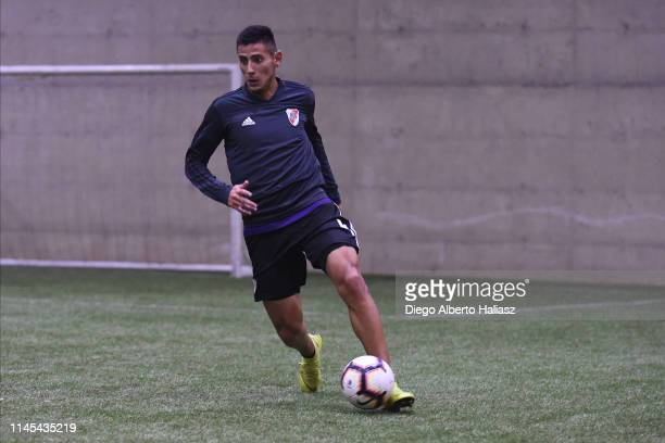 Fabrizio Angileri of River Plate during a training session at CAT Alfredo Gottardi on May 21 2019 in Curitiba Brazil River Plate will face Atletico...