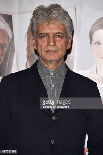 Fabrizio Bentivoglio attends a photocall for 'Dobbiamo Parlare' on November 17 2015 in Milan Italy