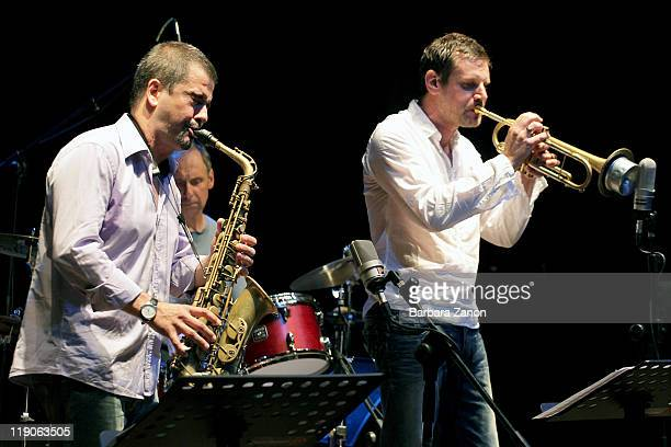 Fabrizio Bosso and Rosario Giuliani perform on stage at Teatro Pavone during Umbria Jazz Festival on July 14 2011 in Perugia Italy