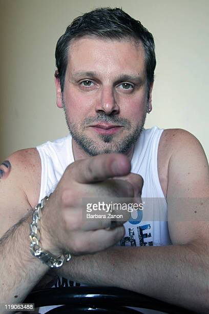 Fabrizio Bosso poses at a portrait session at Teatro Pavone during Umbria Jazz Festival on July 14 2011 in Perugia Italy