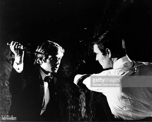 Fabrizio Capucci attacks Louis Jourdan in a scene from the movie To Commit a Murder circa 1967